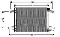 Радиатор кондиционера для грузового автомобиля Скания.
