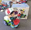 Детский трехколесный велосипед игрушка с музыкой иосвещением, фото 3