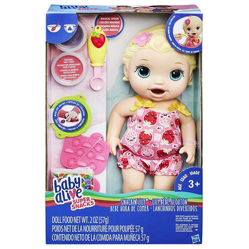 Кукла Hasbro Baby Alive Беби Элайв-Малышка Лили со снеками-C2697