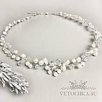 Свадебное ожерелье колье на шею для невесты