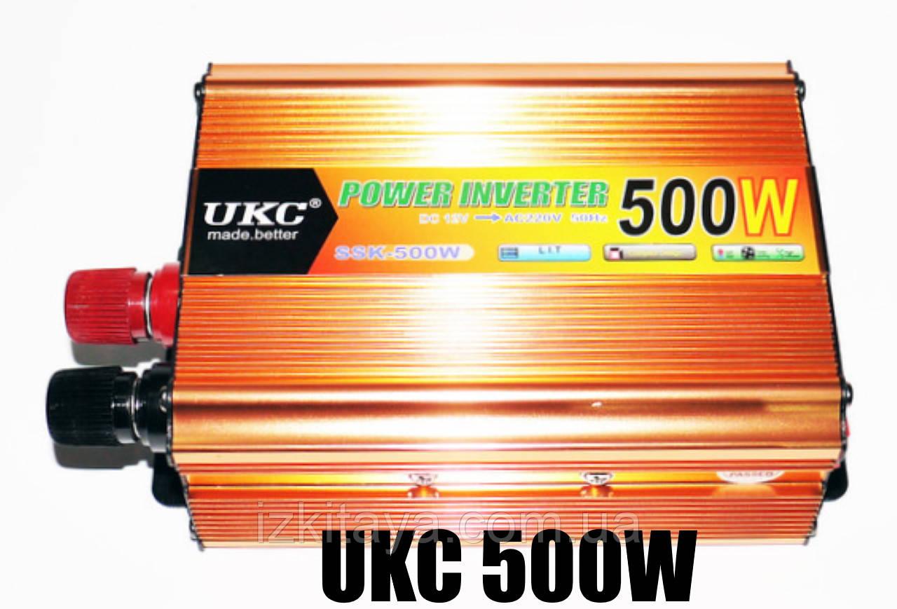 Інвертор перетворювач напруги Power Inverter UKC 500W 12V в 220V