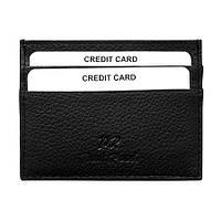 Картхолдер для пластикових карт шкіряний чорний Paul Rossi 786