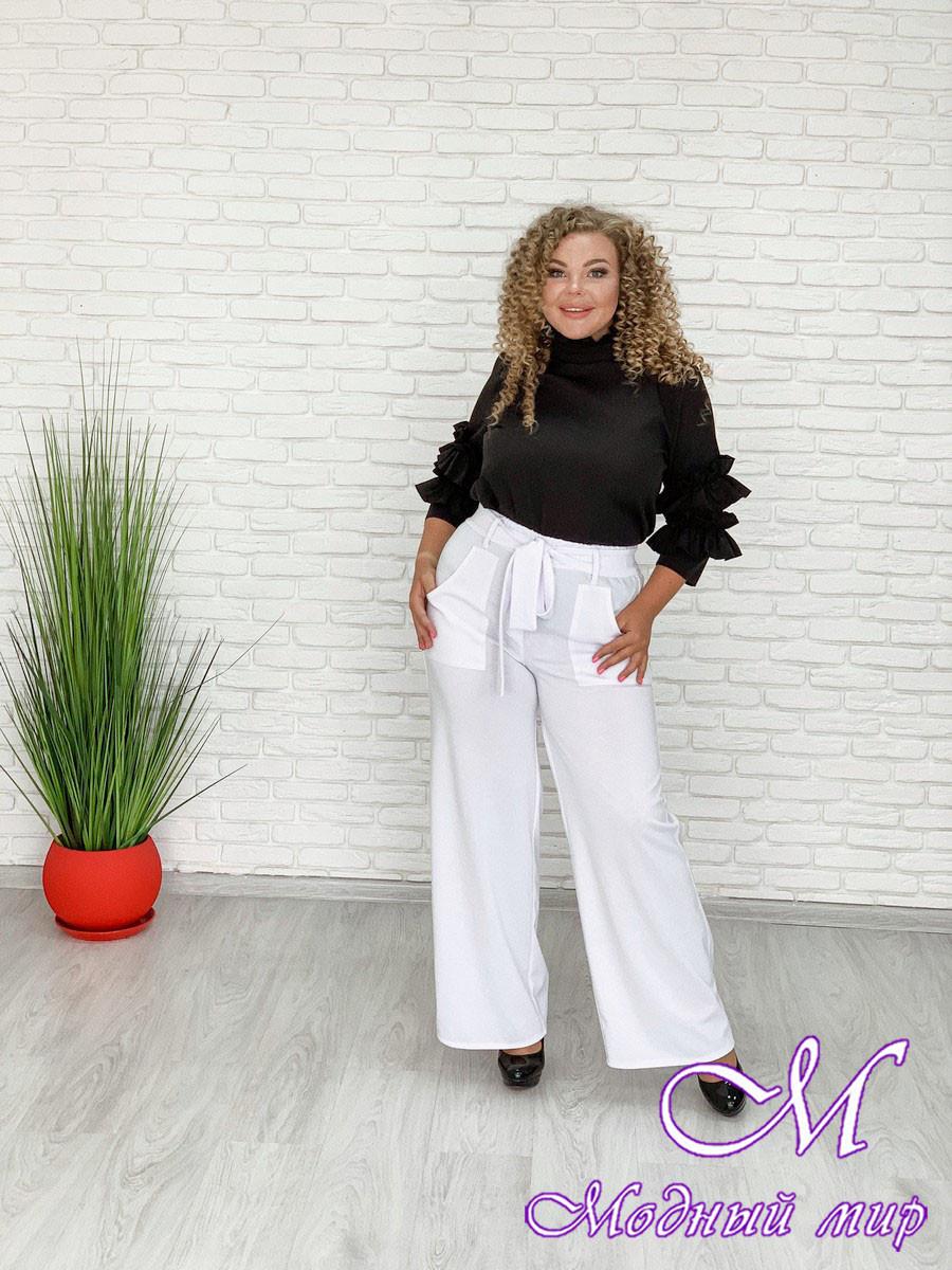 Женские белые брюки большого размера (р. 48-90) арт. Монэ