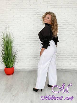 Женские белые брюки большого размера (р. 48-90) арт. Монэ, фото 2