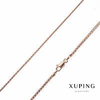 Цепочка Xuping плетение жгут плоская косичка s-2мм L-45см позолота