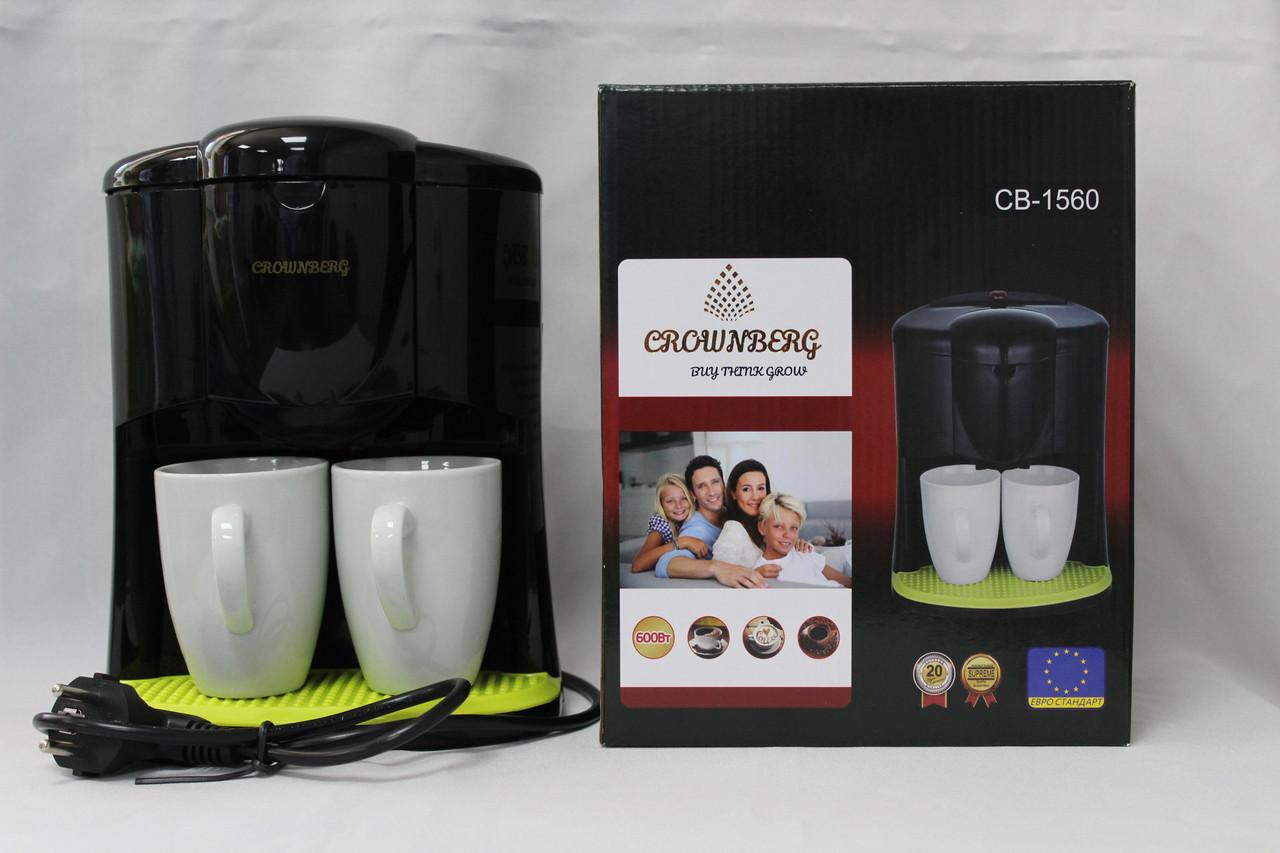 Многофункциональная Кофеварка Crownberg Германия 600 Вт 2 чашки, фото 1