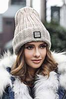 Модная женская шапка-колпак с отворотом в 8ми цветах 4636, фото 1