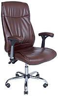 Кресло Richman Альваро Хром Темно-коричневое