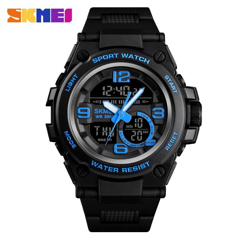 Skmei 1452 shark синие мужские спортивные часы