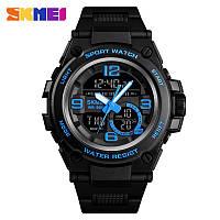 Skmei 1452 shark синие мужские спортивные часы, фото 1