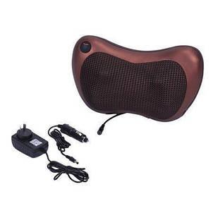 Массажер SUNROZ Neck Massager Pillow массажная подушка для области шеи и головы, Коричневый, фото 2