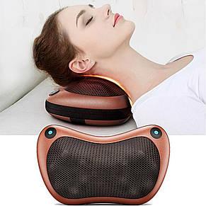 Массажер SUNROZ Neck Massager Pillow массажная подушка для области шеи и головы, Коричневый, фото 3
