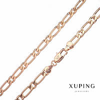 Цепочка Xuping плетение Картье s-6мм L-50см позолота