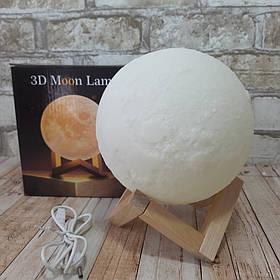Настольный светильник сенсорный 3D Moon Light Луна 15 см ( ночник луна )