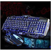 Игровая клавиатура с мышкой и подсветкой V100 Игровой комплект Молния