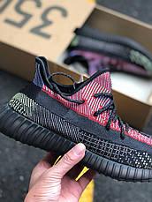 Кроссовки мужские Adidas Yeezy Boost 350 v2 Holiday черные (Top replic), фото 3