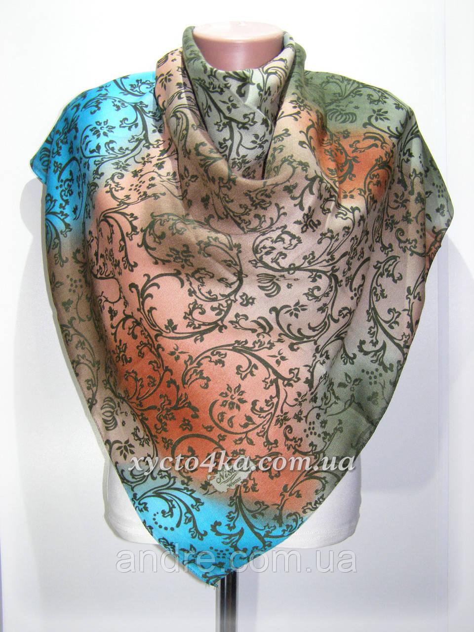 Кашемировый платок винтаж, капучино