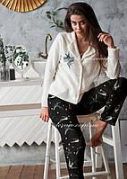 Пижама женская теплая Ласточки 🐦  флис