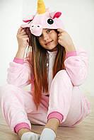 Детский кигуруми розовый единорог ktv0037