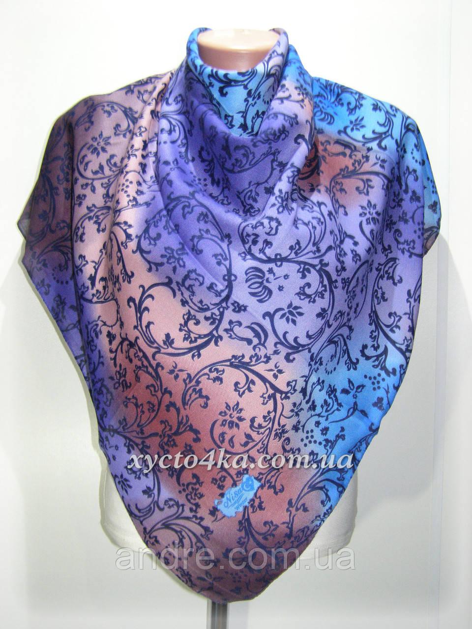 Кашемировый платок винтаж, синий