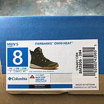 Кроссовки мужские теплые Columbia Fairbanks Omni-Heat хаки-зеленые (ОРИГИНАЛ), фото 2