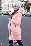 Пальто для беременных KRISTIN OW-49.013 металлик с розовым, фото 2