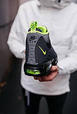 Кроссовки мужские теплые Nike 95 Sneakerboot черные-салатовые (Top replic), фото 2