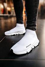 Кроссовки женские мужские Balenciaga Speed Trainer белые (Top replic), фото 3