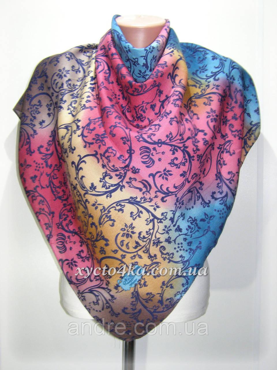 Кашемировый платок винтаж, малиновый
