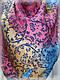 Кашемировый платок винтаж, малиновый, фото 2