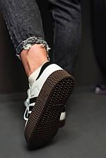 Кроссовки женские Adidas SAMBA ROSE белые-черные полоски (Top replic), фото 2