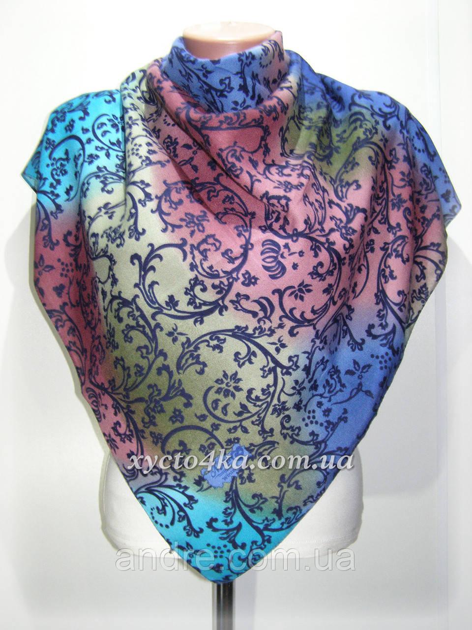 Кашемировый платок винтаж, розовый