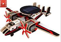 3D конструктор «Самолет радиолокационной разведки» на солнечных батарейках Robotime
