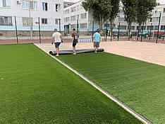 Монтаж искусственной травы