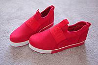 Женские  хайтопы кроссовки замша в стиле Moschino красные 36- 40 новинка