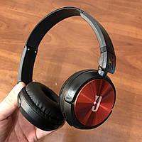 Накладные беспроводные bluetooth наушники JBL 850 bt Wireless черно-красные, фото 1