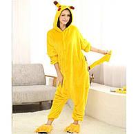 Пижама кигуруми комбинезон теплая качетственная Пикачу, фото 1