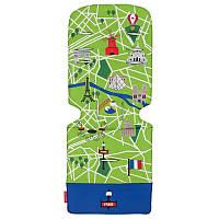 Матрас универсальный д/коляски, Paris City Map