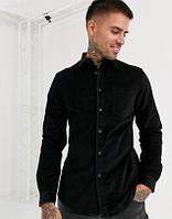 Мужская рубашка из вельвета, стандартный и большой размер есть