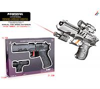 Игрушечный пистолет на батарейках.Пистолет с лазерным прицелом.