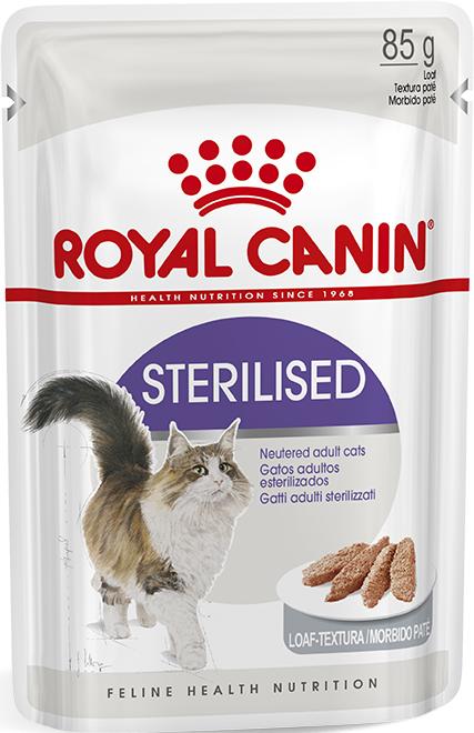 Влажный корм для кастрированных котов и стерилизованных кошек Royal Canin Sterilised паштет 85 г