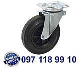 Колесо поворотное с крепежной панелью и тормозом., фото 2