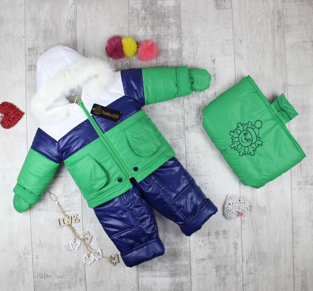 """Комбінезони дитячі для малюків з мішечком """"Сніговик"""""""