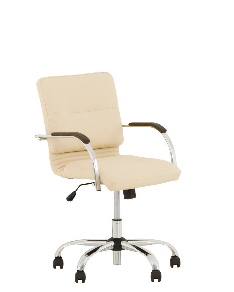 Кресло Самба Samba Ultra хром с деревянными накладками