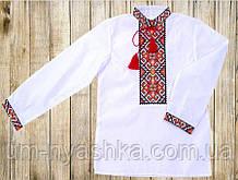 """Подростковая вышиванка для мальчика """"Филипп"""" красная 140-170"""