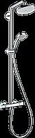 Душова система Hansgrohe Croma Air 220 1jet Showerpipe з термостатом та поворотним тримачем 400м