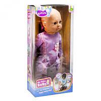 Многофункциональная кукла пупс kobyth mzt8956 dendi my little baby в фиолетовом