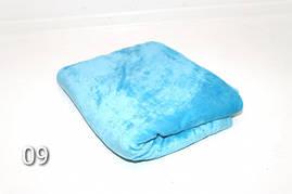 Плед махровый(под велюр),мягкий и нежный,голубой 140см × 200 см