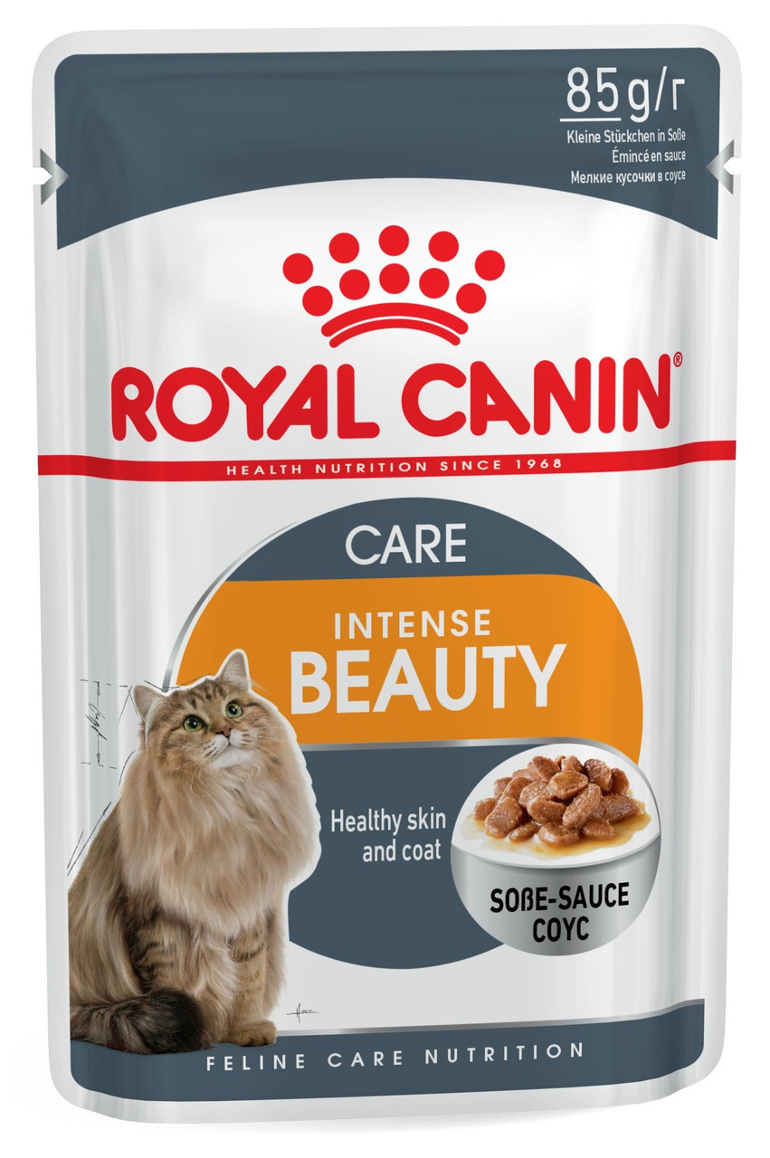 Влажный корм для кошек для здоровой кожи и красивой шерсти Royal Canin Intense Beauty в соусе 85 г