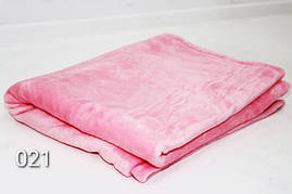 Плед махровый(под велюр),мягкий и нежный,розовый 140см × 200 см